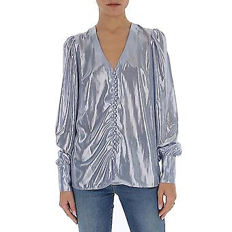 Andamane Ceciliaclndslvr Women's Silver Polyester Bluse