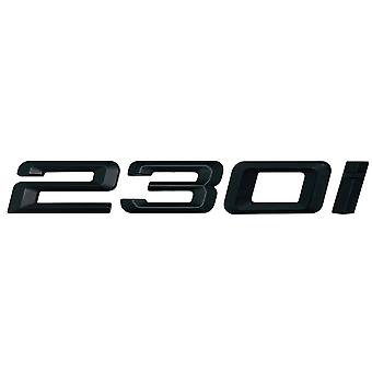 Matt Black BMW 230i Car Model Rear Boot Number Letter Sticker Decal Badge Emblem For 2 Series F22 F45 F46