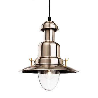 Firstlight Pacific Classic Fisherman Style Pendant Brushed Steel