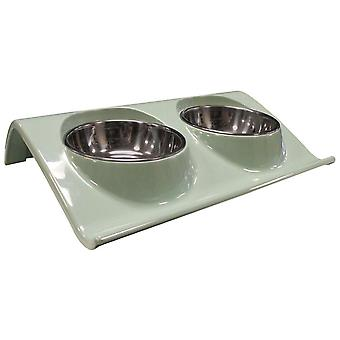 Agrobiothers Z-Shape Double Bowl 160Ml (Dogs , Bowls, Feeders & Water Dispensers)