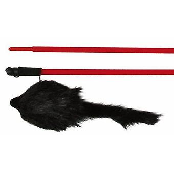 Trixie Rat on wooden stick, 50 cm (Cats , Toys , Teaser Wands)