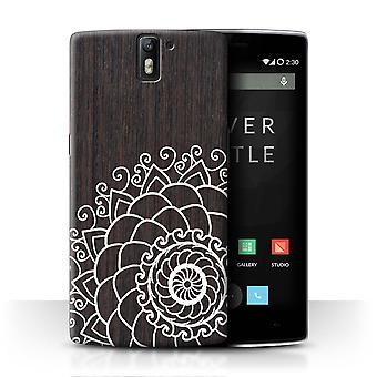 STUFF4 Case/Cover for OnePlus One/Walnut Henna/Fine Lace Wood