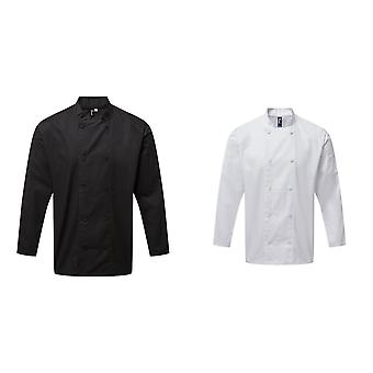 Premier Unisex Adults Chefs Coolchecker Long Sleeve Jacket