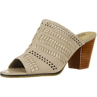 Bella Vita Women's Koraline Slide Sandal on Block Heel Shoe, Cloud Suede Leat...