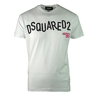 Dsquared2 Distorted Logo Cool Fit White T-Shirt