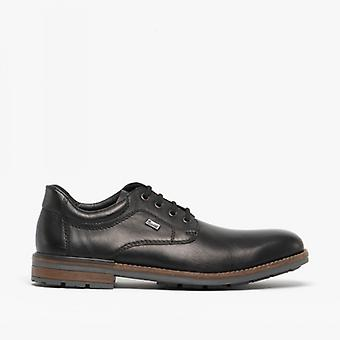 Rieker B1312-00 Herre læder lace-up sko sort