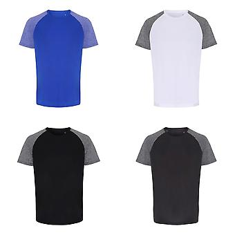 TriDri Mens Contrast Sleeve Performance T-shirt