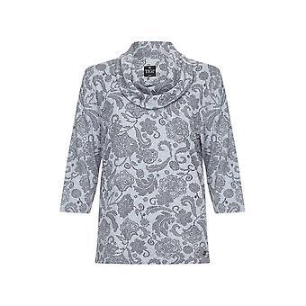 TIGI Ash Floral Print Cowl Neck Top