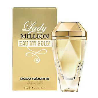 Paco Rabanne Lady Million Eau My Gold Eau de Toilette Spray 80ml