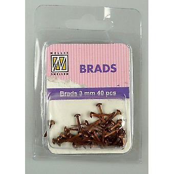 Неллизапос;s Выбор цветочных brads Медь 3 мм 40 PC FLP-BR-004