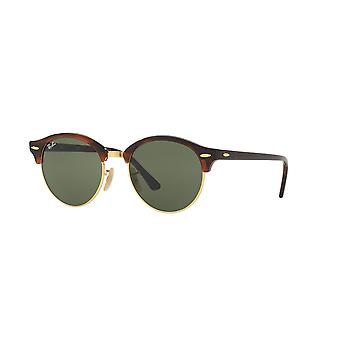 Lunettes de soleil Ray-Ban Clubround RB4246 990 Red Havana/Crystal Green