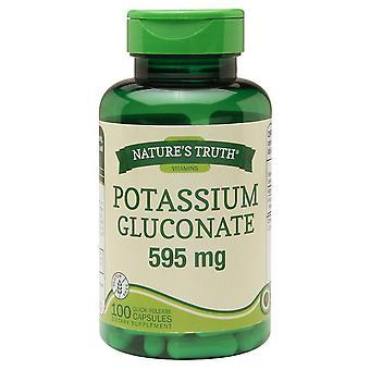 Nature's truth potassium gluconate, 595 mg, caplets, 100 ea