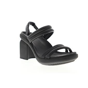 Camper Paradise  Womens Black Leather Heels Strap Pumps Shoes