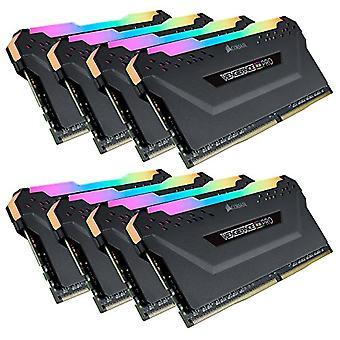 コルセア 復讐 RGB PRO 64 GB (8x8 GB) DDR4 4000MHz C19 XMP 2.0 RGB LED LED LED 照明メモリ キット 熱狂, ブラック