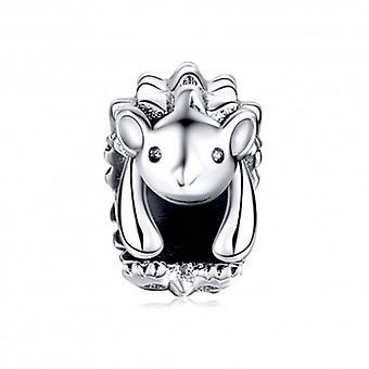 Sterling Silver Charm Hedgehog - 6438