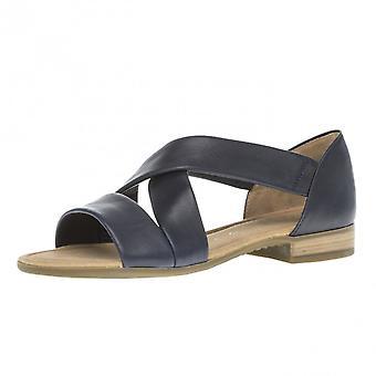 Gabor sødt moderne wide fit lukket hæl sandaler i Midnight Navy
