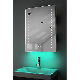 Óraszekrény LED-es világítással, demiszter, érzékelő és borotva k387