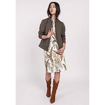 Khaki lanti jackets & coats v46209
