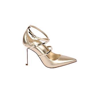 Michael Par Michael Kors 40r0gvhp1m740 Women-apos;s Gold Leather Pumps