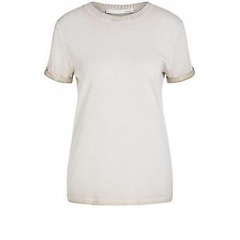 Oui Beige Jersey T-Shirt
