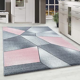 ShortFlor Designer Rug Abstract Patroon Home Rug Grijs Roze Wit Gevlekte