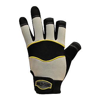 Polyco MT3/10 Multi-Task 3 Synthetic Leathers with PVC Inner Palm Gloves 10