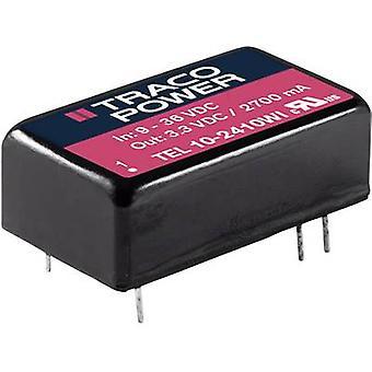 TracoPower TEL 10-2423WI DC/DC omformer (utskrift) 24 V DC 333 mA 10 W Nr. av utganger: 2 x