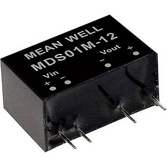 Mean Well MDS01L-15 DC/DC converter (module) 67 mA 1 W No. of outputs: 1 x