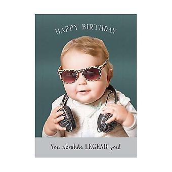 Pigment Midget Gems Absolute Legend Baby With Sunglasses Birthday Card