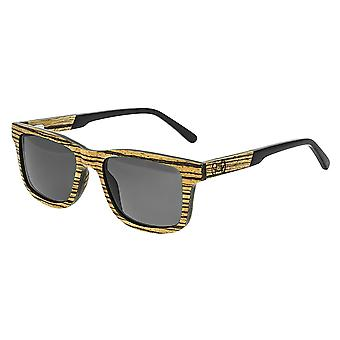 Earth Wood Tide Polarized Sunglasses - Zebrawood/Black