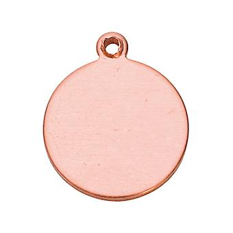 Copper Blank Round Drop Pack of 6 15mm X 18mm X 1mm