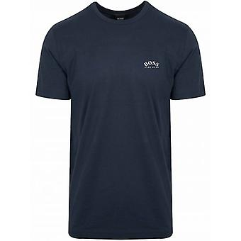 BOSS Navy T-paita Kaareva T-paita