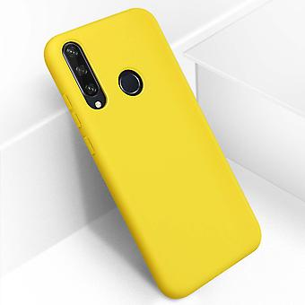 Huawei Y6p Semi-Rigid Silicone Back cover Soft-Touch Finish Yellow