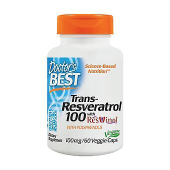 Trans-Resveratrol met ResVinol-25 100 mg 60 plantaardige capsules