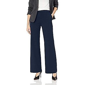 Lark & Ro Women's Wide Leg Ponte Pant, Marine, X-Small