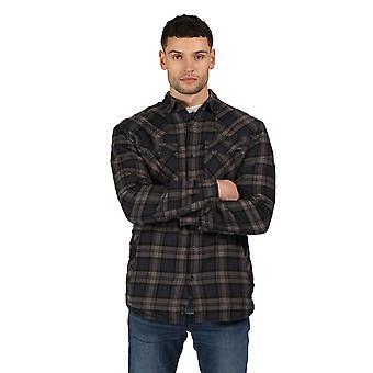 Regatta Mens Tavior Langermet Sjekket Fleece Foret Skjorte