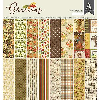 Authentique Gracious 12x12 pulgadas de papel Pad