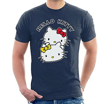 Hello Kitty And Mimmy Character Heads Men's T-Shirt
