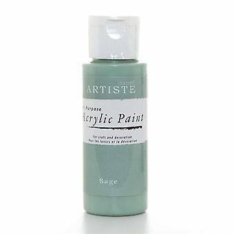 Peinture acrylique Docrafts (2oz) - Sage (DOO 763239)