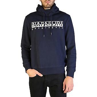 Napapijri mænd's ribbede hems fast hætte sweatshirt