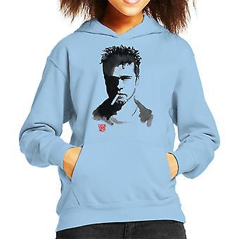 Brad Pitt Cigarette Kid's Hooded Sweatshirt