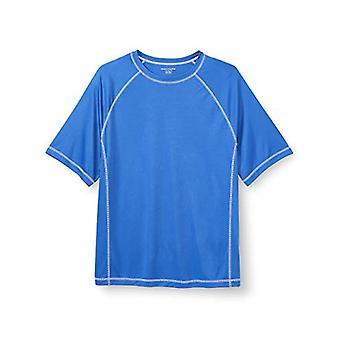 أساسيات الرجال كبيرة وطويلة الأكمام قصيرة الأكمام سريعة الجافة UPF 50 السباحة تي ملابس السباحة، -الأزرق الملكي، 1XL