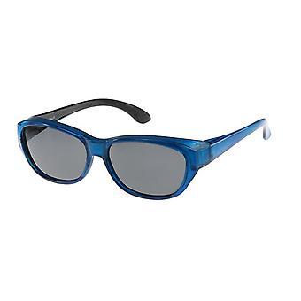 Zonnebril Unisex blauw met grijze lens Vz0027pk