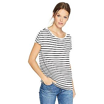 Brand - Daily Ritual Women's Jersey Short-Sleeve Boat Neck Shirt, Whit...