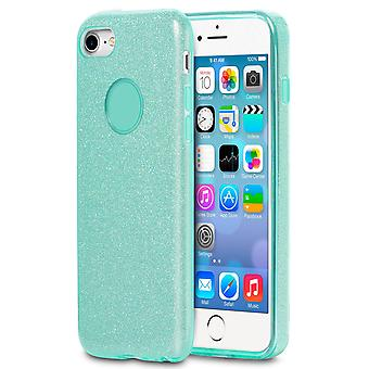 Glitter Case for Apple iPhone 6 Plus/6s Plus Shiny TPU Rhinestone Bling Green