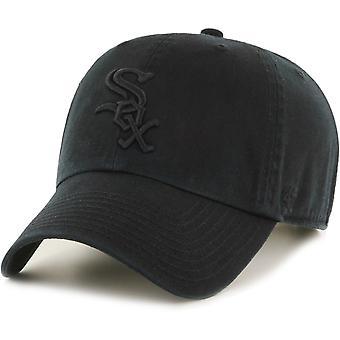 47 brand ontspannen fit Cap CLEAN UP Chicago White Sox zwart