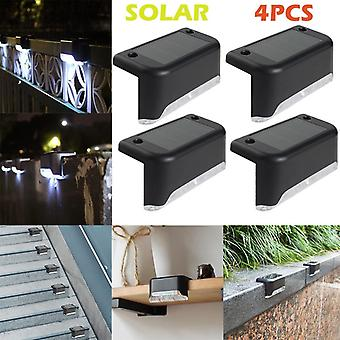 4pcs Of Led Solar Path Stair Wall Lamp Energy-efficient For Garden Yard Fence  Landscape Driveway