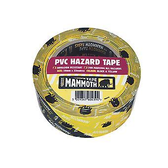 Everbuild PVC Hazard Tape Black / Yellow 50mm x 33m EVB2HAZYW