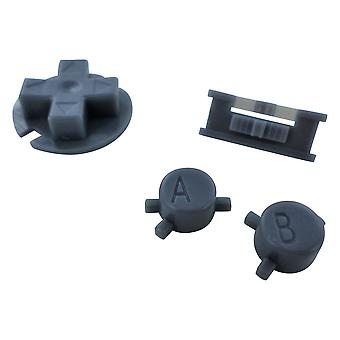 Replacement button set a b d-pad power switch mod for nintendo game boy color - dark grey | zedlabz
