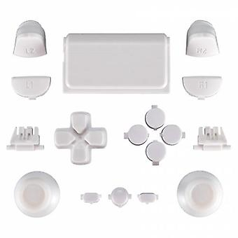 Full replacement button set mod kit for 2nd gen sony ps4 jdm-030 controllers - white